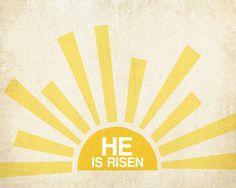 He is Risen Free Printable