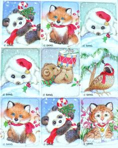 Sangamon Christmas animal stickers