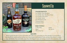 Snowed In Buffalo Trace, Bar Spoon, Cocktail Mixers, Best Cocktail Recipes, Online Gift Shop, Beverages, Drinks, Cream Cream, Holiday Cocktails