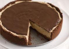 Cheesecake al caffè glassato al cacao.