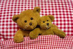 Konzept Für Liebe, Zusammengehörigkeit - Zwei Braunen Teddybären ...