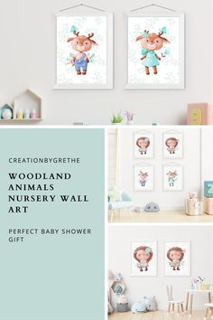 Are you looking for an easy, affordable and convenient way to decorate your child's room then you're in the right place. This woodland animals nursery art set is the perfect pieces that will add the finishing touch to your child's room or nursery. #nurserywallart #kidsroomdecor #playroomdecor #nurseryprintable #nurseryprints Playroom Wall Decor, Baby Room Decor, Nursery Wall Art, Nursery Decor, Woodland Nursery Prints, Woodland Animal Nursery, Woodland Animals, Playroom Printables, Child's Room