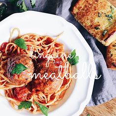 A hearty and comforting Linguine and Meatballs recipe Spaghetti Sauce, Marinara Sauce, Linguine, Meatball Recipes, Ground Beef, Pork, Pasta, Meals, Ethnic Recipes