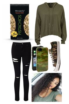 """Casual 7"" by copperperro ❤ liked on Polyvore featuring Miss Selfridge, Sonix and Converse"