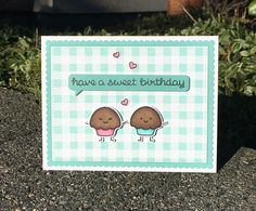Sweet Friends stamp set and dies from Lawn Fawn. Card by Mocha Frap Scrapper.