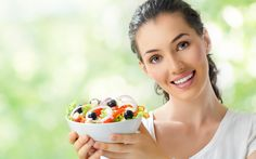 Девушка салат клипарт