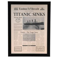 Crestview Titanic Sinks Wall Art CVA3452 - Crestview Titanic Sinks Wall Art CVA3452SKU: CVA3452Manufacture: Crestview CollectionUPC Code: 883581090109Category: Wall DecorSub Category: Framed PrintStatus: CVUSProduct Type: Framed PrintDimensions: 26 x 34