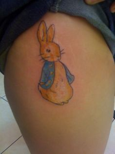 beatrix potter was a huge part of my childhood Female Rabbit, Believe Tattoos, Peter Rabbit Nursery, Rabbit Tattoos, Jewelry Tattoo, Pinterest Pin, Body Modifications, Beatrix Potter, Cool Tattoos