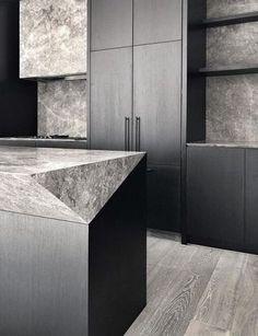Home Decoration Ideas Diy .Home Decoration Ideas Diy Modern Kitchen Design, Interior Design Kitchen, Black Kitchens, Cool Kitchens, Kitchen And Bath, Kitchen Dining, Layout Design, Beautiful Kitchens, Interiores Design