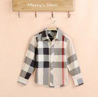 Boys Plaid Shirt 2015 Spring Brand 1P Retail Shirt Boy Chemise de garcon de marque 100% Cotton Kids Shirt Camisa xadrez infantil