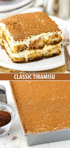 Easy Classic Tiramisu Recipe – How to Make the Best Tiramisu! This classic tiramisu recipe is SO GOOD. A creamy dessert of espresso-soaked ladyfingers, it's an elegant, easy and delicious Italian dessert you must try! Classic Tiramisu Recipe, Easy Tiramisu Recipe, Classic Recipe, Authentic Italian Tiramisu Recipe, Homemade Tiramisu, Italian Crockpot Recipes, Vegetarian Italian Recipes, Desserts Panna Cotta, Köstliche Desserts