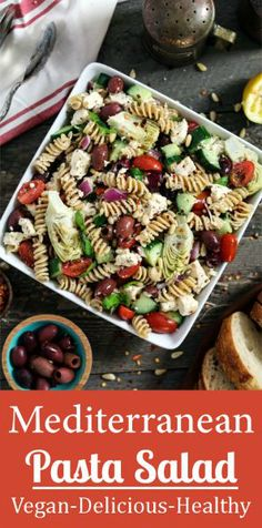 Cool down your summer with this Mediterranean Pasta Salad. It's light, refreshing & chock-full of fresh vegetables.