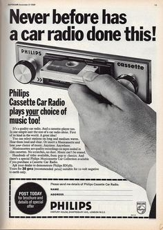Advertentie uit 1968 voor Philips autoradio's