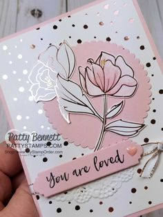 Springtime Foils flower card inspried by Kylie, featuring Sale-a-Bration 2018 products from Stampin' UP!
