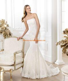 Robe de mariée sirène tulle dentelle cristal