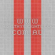 www.healthyweightweek.com.au  7 day plan energy analysis