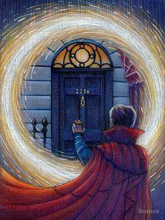 Doctor Strange and Sherlock Johnlock, Marvel Fanart, Marvel Comics, Marvel Avengers, Sherlock Bbc, Sherlock Poster, Sherlock Quotes, Funny Sherlock, Sherlock Season
