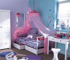 Chambre petite fille bleue