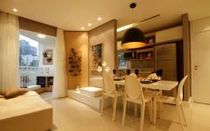Imóvel de 55 m² tem decoração contemporânea repleta de tons neutros