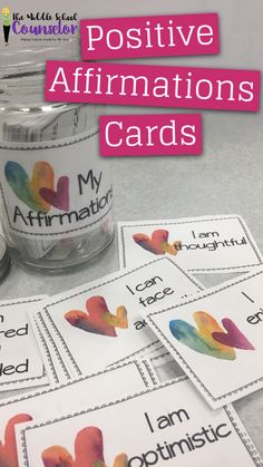Positive Affirmations. A nice pick me up for kids of all ages