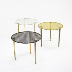 Nesting tables by Mathieu Mategot, France, 1950.