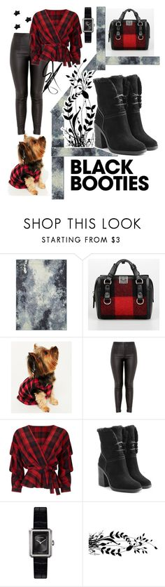 """""""What to wear with black boots"""" by michele-montalto ❤ liked on Polyvore featuring Oriental Weavers, Dsquared2, Karen Neuburger, Miss Selfridge, UGG, Chanel and blackbooties"""