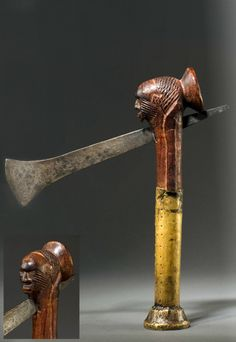 Africa | Ceremonial ax from the Teke people of Congo | Wood and metal || September 2013 Catalogue