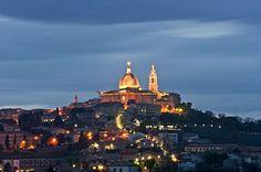 Loreto, Night Landscape, Ancona, Marche, Italy, Europe