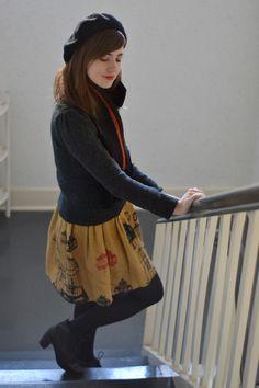 Emily of Ruby Slipper Journeys wears our Antique Birdcage Skirt