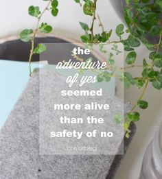 the adventure of yes seemed more alive than the safety of no - john ortberg