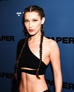 It's uber long boxer braids for model of the moment Bella Hadid.