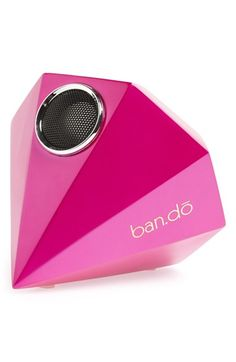 Free shipping and returns on BAN.DO 'The Giant Gem' Portable Speaker at Nordstrom.com. Take glam rock to a whole new level with this neon pink gem speaker that goes everywhere you do. Plug it into your laptop to turn any day into a dance party. Provides up to 12 hours of continuous music-bumping fun.