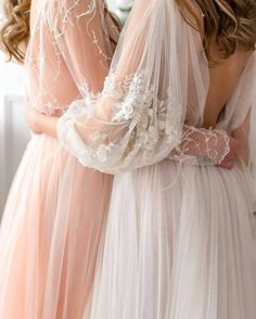 Beautiful organza silk dress, wedding dress, pink wedding dress, blush bride