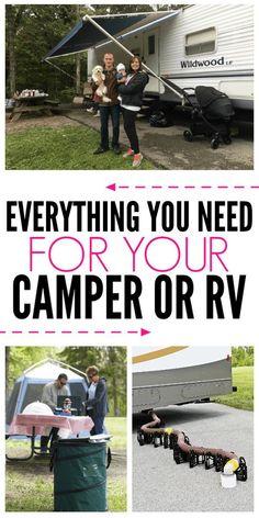 rv camping / rv camping & rv camping checklist & rv camping hacks & rv camping tips & rv camping meals & rv camping decorating & rv camping with kids & rv camping ideas Camping Snacks, Camping Ideas, Camping Hacks With Kids, Camping Bedarf, Travel Trailer Camping, Retro Camping, Camping Supplies, Camping World, Camping Essentials