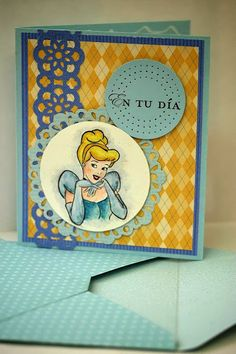 Designed by maryross: Cinderella birthday card or invitation details and pics. Cinderella disney princess