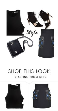 """Black Heat"" by adduncan ❤ liked on Polyvore featuring T By Alexander Wang, Fendi and Loeffler Randall"