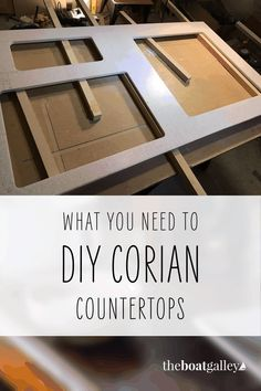 Putting in new counters on Calypso means learning to work with a whole new material. It's not that hard to create with Corian! Corian Countertops, Boat Projects, Sailing Adventures, Wet And Dry, Tool Box, Tools, Learning, Create, Diy