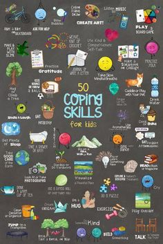 50 Coping Skills for Kids Poster! One of Many Tools in School Self-Regulation Coping Skills Bundle! - 50 Coping Skills for Kids Poster! One of Many Tools in School Self-Regulation Coping Skills Bundle! Social Emotional Learning, Social Skills, Kids And Parenting, Parenting Hacks, Parenting Styles, Funny Parenting, Grace Based Parenting, Parenting Plan, Gentle Parenting