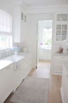 Many designers find Benjamin Moore OC-117 Simply White to be one of the best white paint color for cabinets.