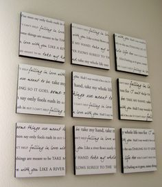Wedding song on your wall