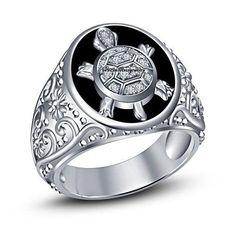 925 Sterling Silver Round Cut D/VVS1 Diamond Tortoise Fashion With Men's Ring  #br925silverczjewelry #TortoiseDailyWearBandRing #DailyWear