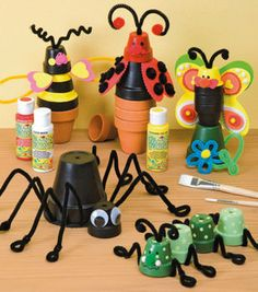 Clay pot crafts are such stunning accessories that you can use to plant everything. Clay pots are often loved by a lot of people because it can have better Clay Pot Projects, Clay Pot Crafts, Vbs Crafts, Crafts To Make, Craft Projects, Crafts For Kids, Garden Projects, Craft Ideas, Flower Pot Art