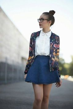 Perfect collar and floral print cardigan please stitch fix me into this!