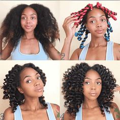 How To Use Flexi Rods on Natural Hair - Modern Blow Dry Natural Hair, Natural Hair Regimen, Natural Hair Updo, Long Natural Hair, Natural Curls, Natural Hair Styles, Flexi Rods, Perm Rods, Medium Hair Styles