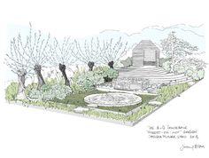 Chelsea Flower Show 2013, Sketch Design by Jinny Blom