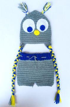 HighKnit Baby Owl Set by MyHighKnit on Etsy