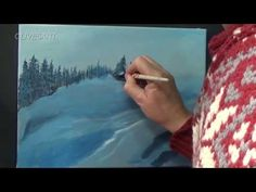 Mountain Side Snow | christmas jingle bells | Full Step by Step Tutorial Acrylic painting ,clive5art - YouTube