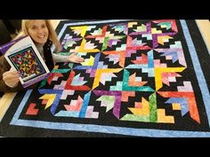 Can't You See the BUTTERFLY BLOOMS IN THIS QUILT?? - YouTube Quilting Tips, Quilting Tutorials, Quilting Projects, Sewing Tutorials, Sewing Projects, Video Tutorials, Quilt Block Patterns, Pattern Blocks, Quilt Blocks