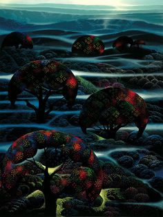 Eyvind Earle - Garden-of-Dreams-1990