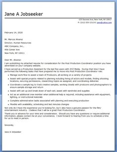 film production cover letter template - Film Production Cover Letter
